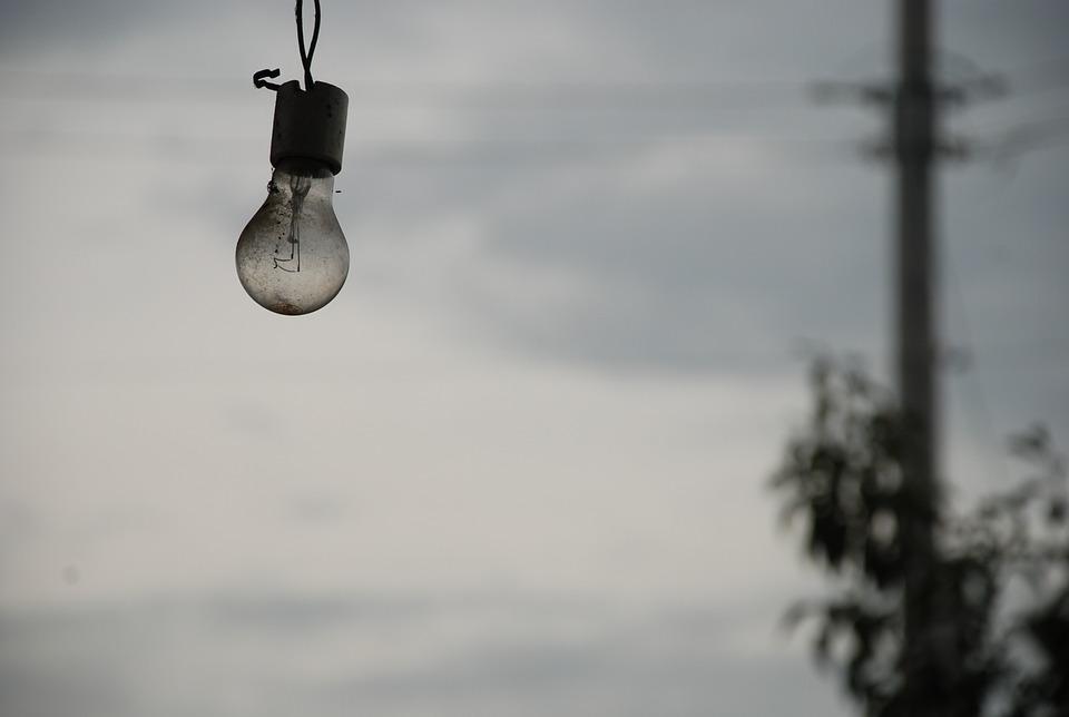 лампочка в поле