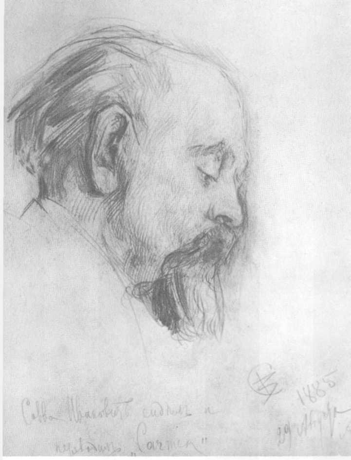 Савва Мамонтов за переводом «Кармен». Валентин Серов. 1885