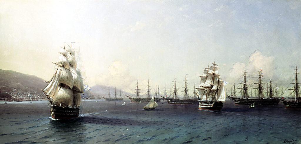 Black Sea Fleet in the Bay of Theodosia
