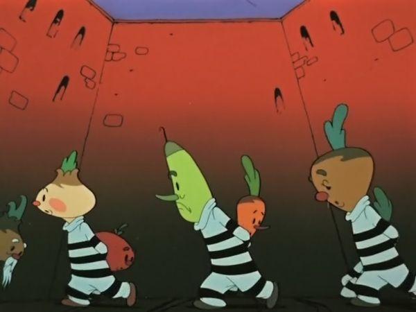 Чиполлино. Овощи на прогулке в тюремном дворике