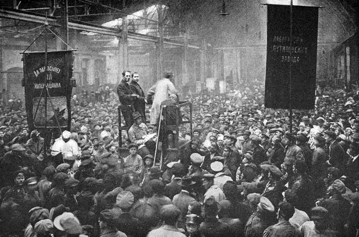 Митинг на Путиловском заводе. 1917