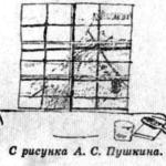 Рисунок Пушкина. Тюремная решётка