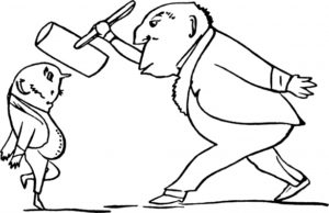 двое мужчин, иллюстрация из старинной книги