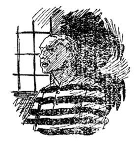 Заключённый. Иллюстрация 1910 г.