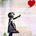Девочка и шар, графити, Банкси.