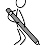 Человечек с карандашом