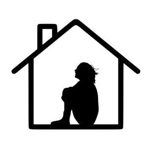 Девушка в домике