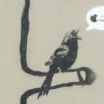 Птичка поёт из СИЗО. Графити.