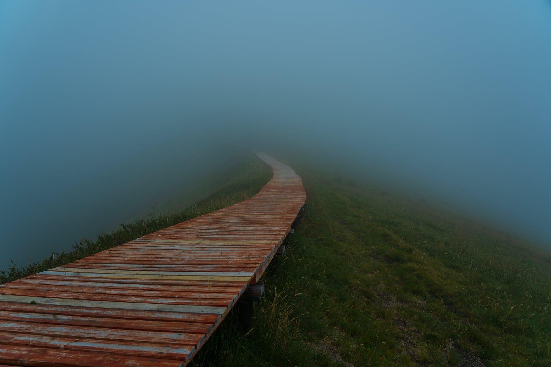 правильная дорога в тумане